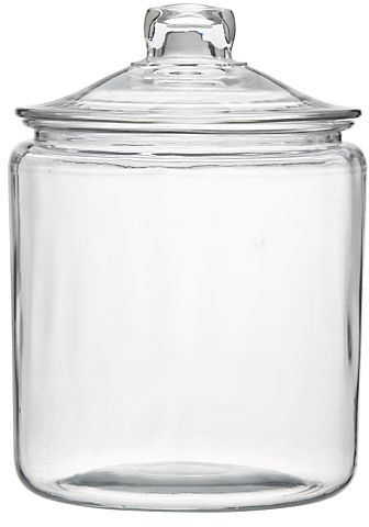 Heritage Hill 128 oz. Glass Jar with Lid in Food Storage | Crate and Barrel