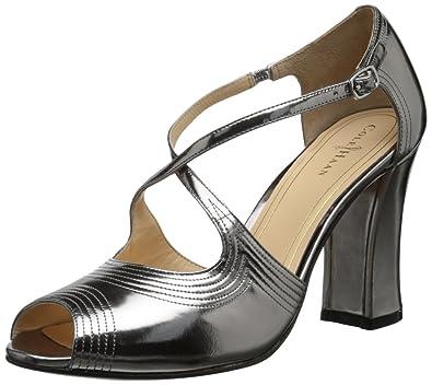 Cole Haan Jovie High Womens Armor Specchio Leather Heel Sandals size 9.5