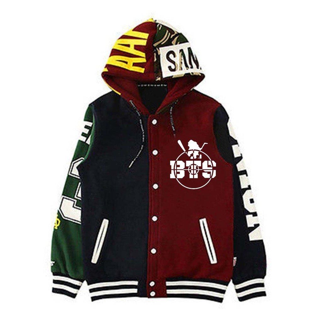 KPOP BTS キャップ パーカー セーター Bangtan Boys ユニセックスパーカー Jimin Jin Suga プルオーバー Large BTS B06ZYHNBWD
