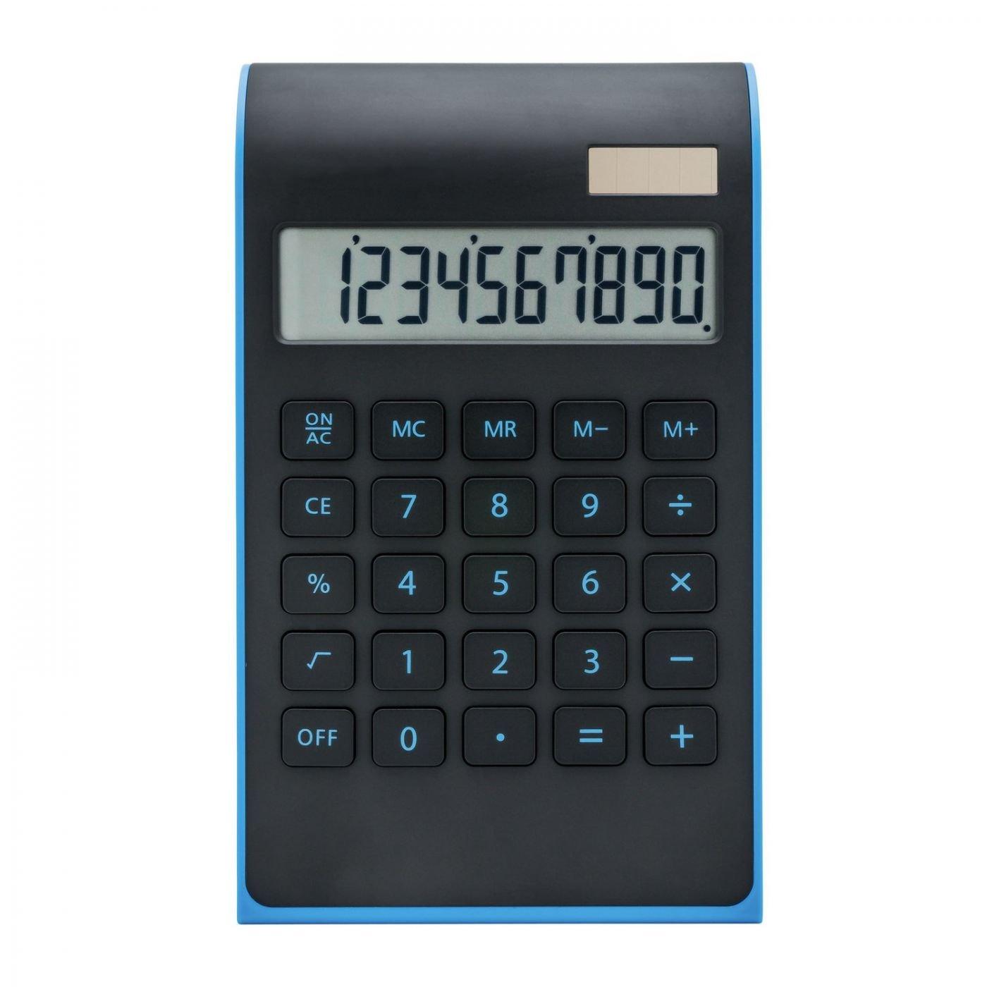 Taschenrechner REFLECTS-VALINDA BLACK LIGHT BLUE Farbe rot schwarz