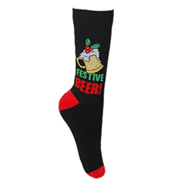 44cb36e039 Mens Festive Christmas Socks - Xmas Novelty Socks - Ideal Stocking Filler -  UK Size 6-11 (Beer): Amazon.co.uk: Clothing
