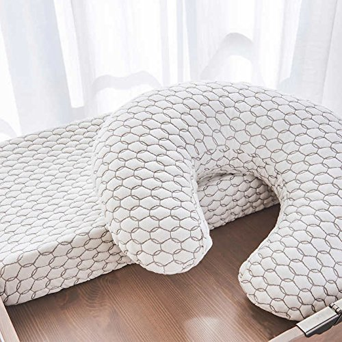 SweetHoney Sweet Pea Changing Pad and Honeysuckle Nursing Pillow Bundle, White Finish by Brentwood Home