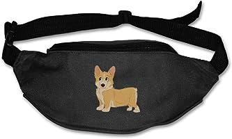 Cute Dog Corgi Running Waist Pack Bag Travel Sports Money Holder For Hiking Climbing Men Women