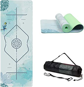wwww PIDO Suede TPE Yoga Mat Eco Friendly Non Slip Yoga Mat by SGS Certified with Carrying Strap and Bag,72