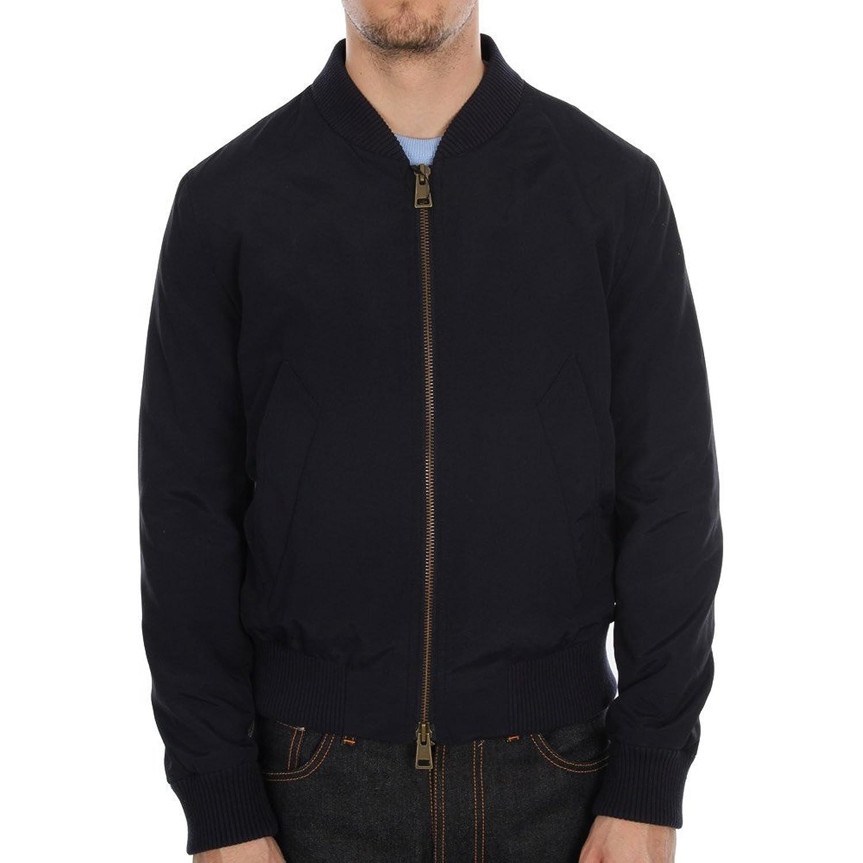 Zipped Teddy Bomber Jacket - Navy Marine