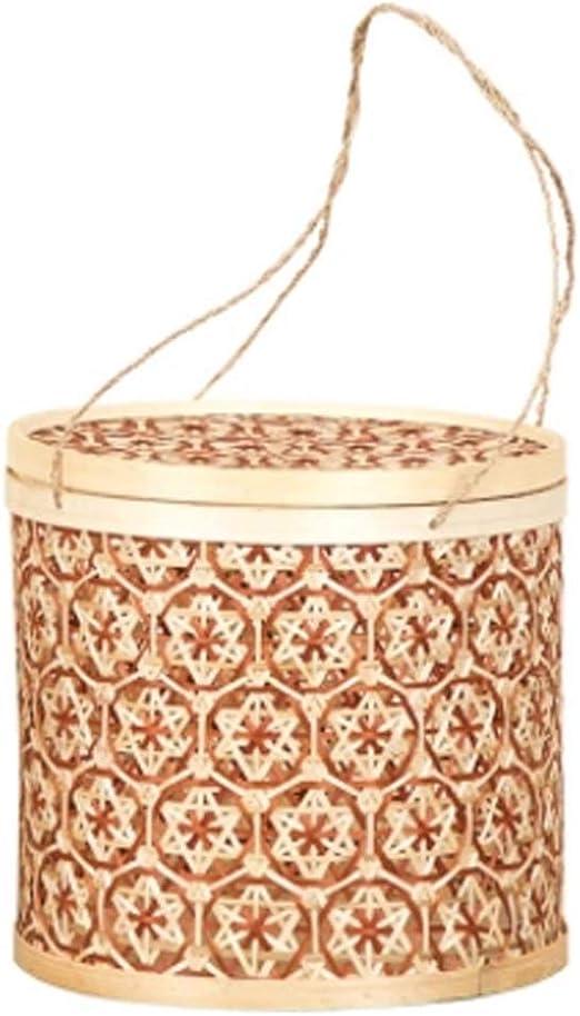 Cesta de almacenamiento MXJ61 Calcetines de bambú Hechos a Mano Ropa de Caja Snacks de Frutas secas Juguetes pequeños Misceláneas Caja de Acabado (Size : Large): Amazon.es: Hogar