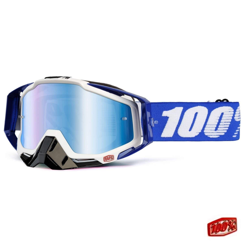 Anti-Fog 20 Abreissfolien von 100/% Crossbrille RACECRAFT EXTRA Cobalt Blue verspiegeltes Glas Uni Gr/ö/ße