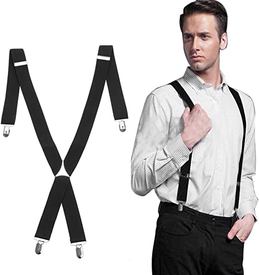 Mens Suspenders with Clips