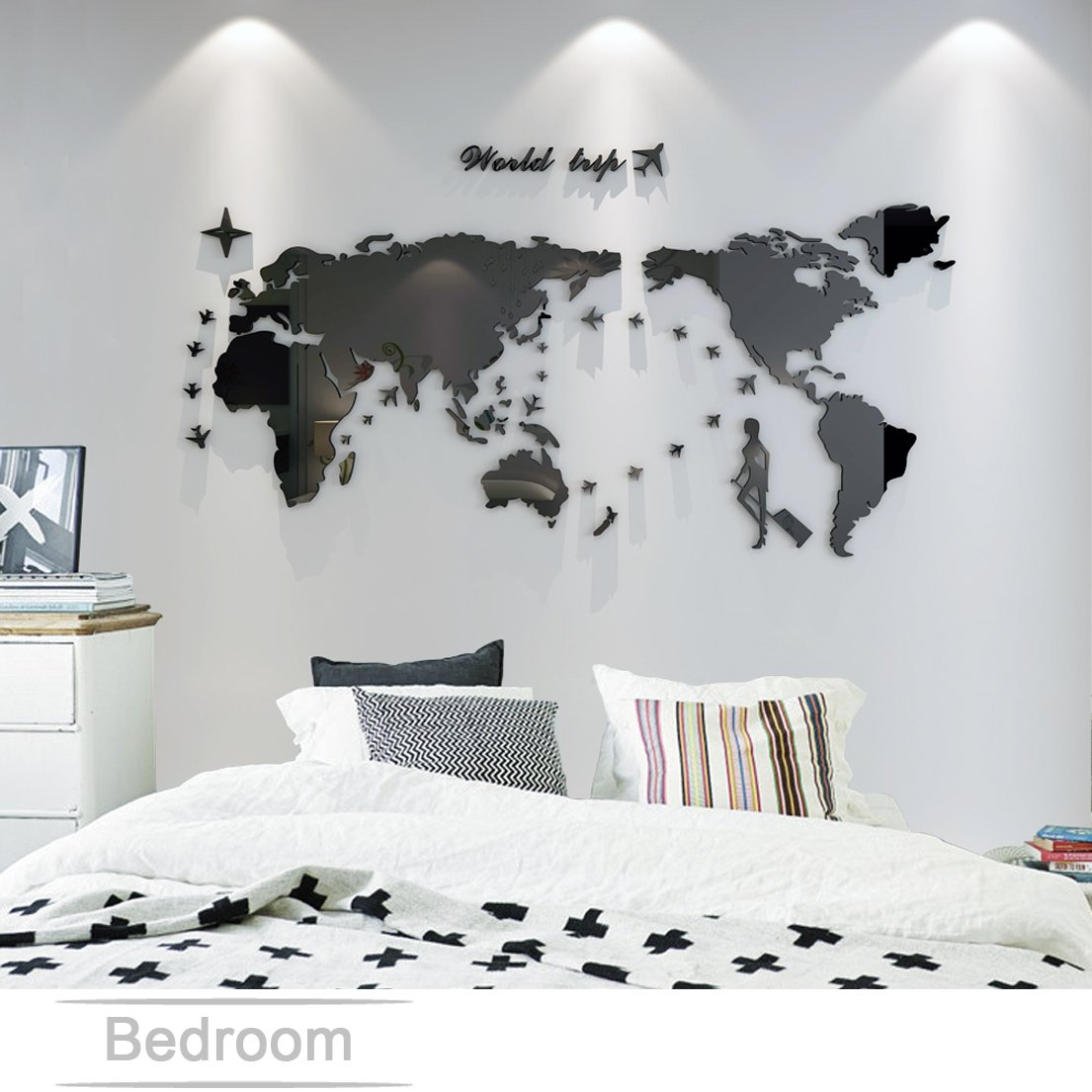 Wall Stickers & Murals Plastic The World Trip Map Wall Stickers/Wall ...
