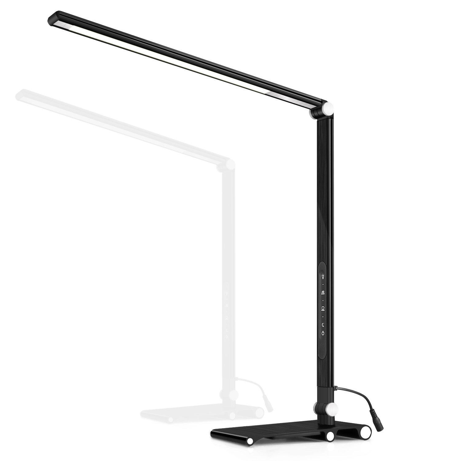 LED Dimmable Desk Lamp, OCOOPA Stylish Metal Office Lamp, Eye Protection Office Light, 7 Brightness Levels, Memory Function, Touch Control, 10W, 1000 Lumens, Piano Black