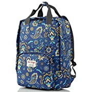 HotStyle FUNNY Women's Paisley Waterproof Backpack Diaper Bag