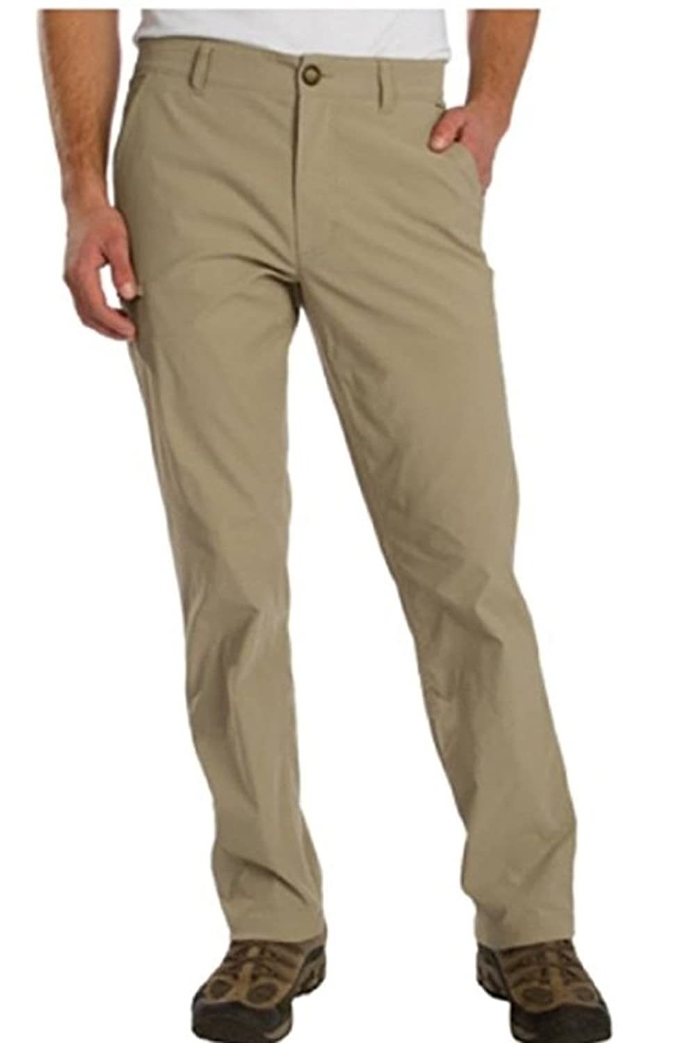 UnionBay Mens Rainier Travel Chino Pants (Variety Color & Size) (34X30, KHAKI)