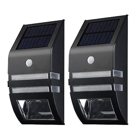 Detectores - TOOGOO(R)[LED Lampara solar de pared] 2 piezas Detectores