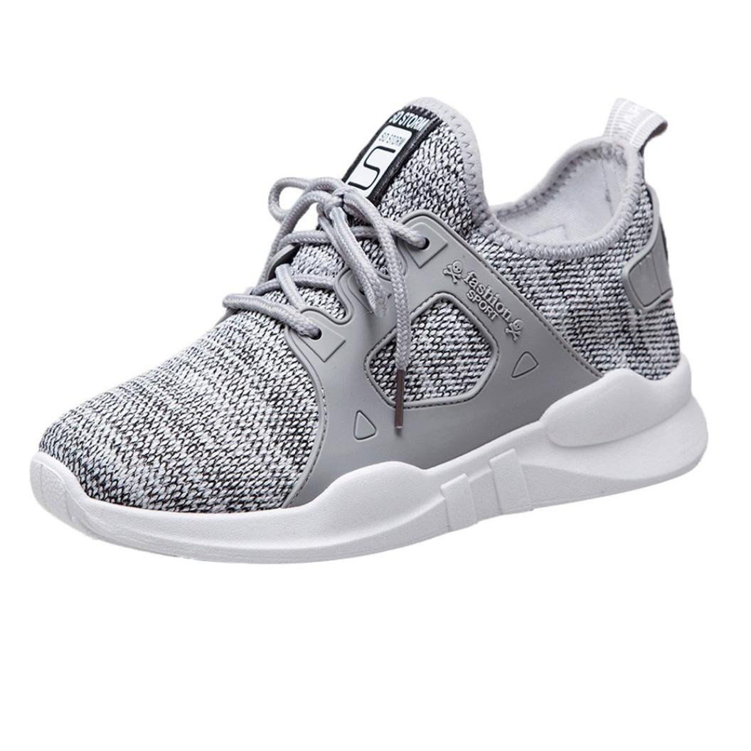 Fashion Women's Sneakers Casual Outdoor Walking Shoes Student Sports Running Shoes (Gray, US:6.5)