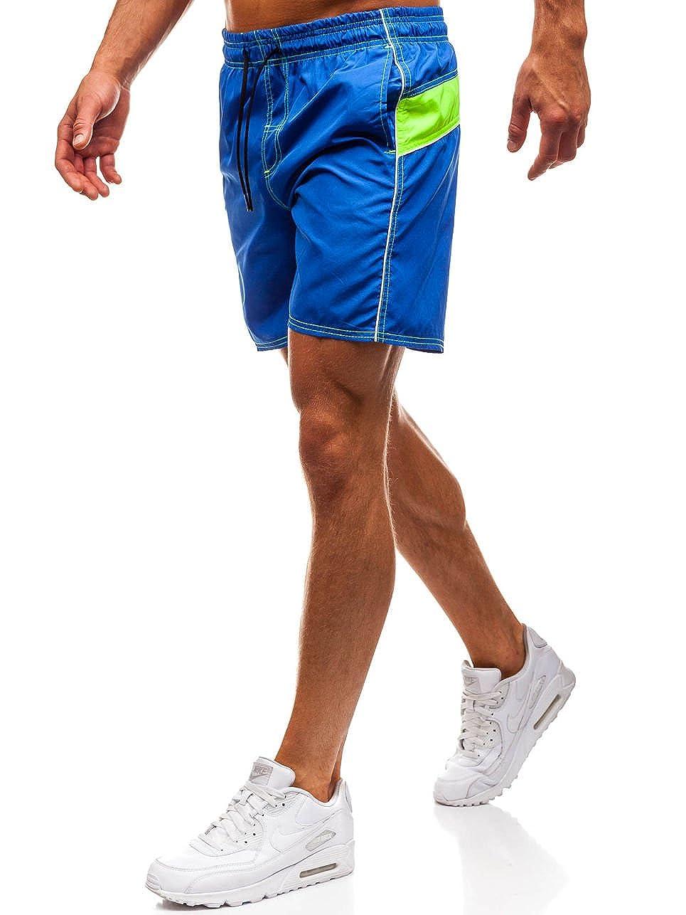 BOLF Herren Kurze Hose Badeshorts Badehose Kordelzug Motiv Sport Style 7G7 MIX