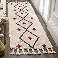 Safavieh Casablanca Collection CSB727A Ivory and Fuchsia Runner, 23 x 8