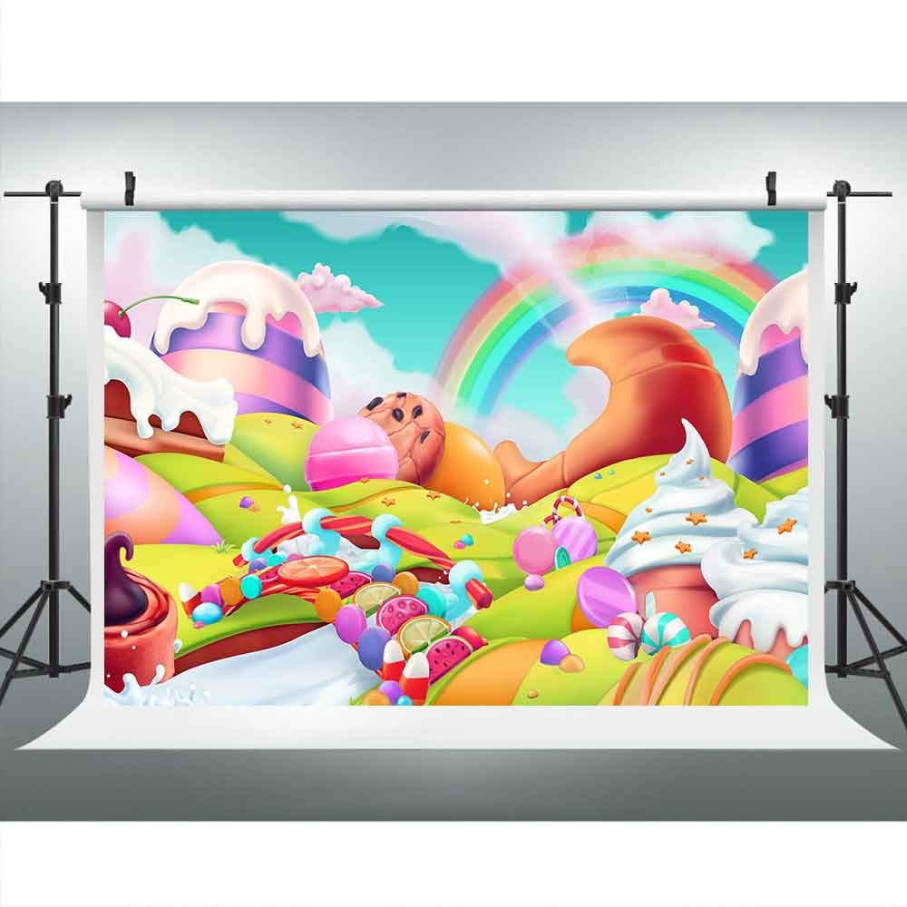 注目のブランド Candyland おとぎ話 写真撮影用背景幕 9x6フィート