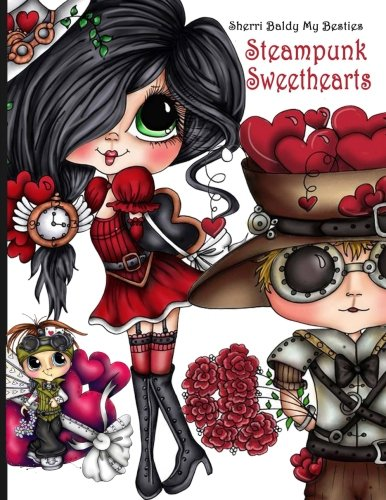 Sherri Baldy Steampunk Sweethearts My Besties Coloring Book 2