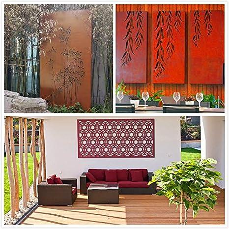 kayee® Biombo, para ventana pared gewö LBT, blanca círculos simétrico, decoración de hogar decoración moderna, Biombo, Exterior, Pared Imágenes, vallas, ...