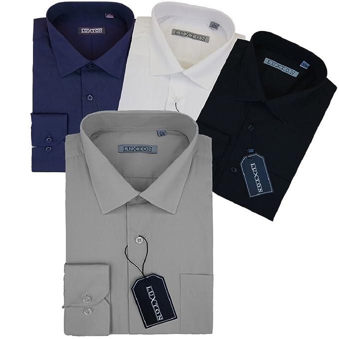 Amazon.com: Luxton para hombre camisa, [4 paquetes] para ...