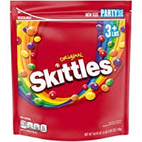 Skittles, Original Fruity Candy Party Size Bag, 50 oz