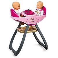 Trona gemelar Baby Nurse para muñecos bebé con accesorios (Smoby 220315)
