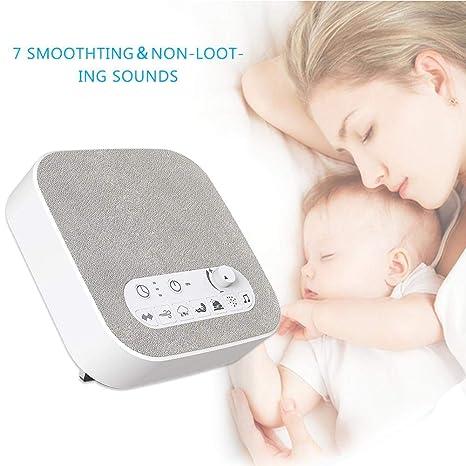 Dispositivo de polisomnografía de terapia de sueño de la máquina de sonido de ruido blanco Sonidos