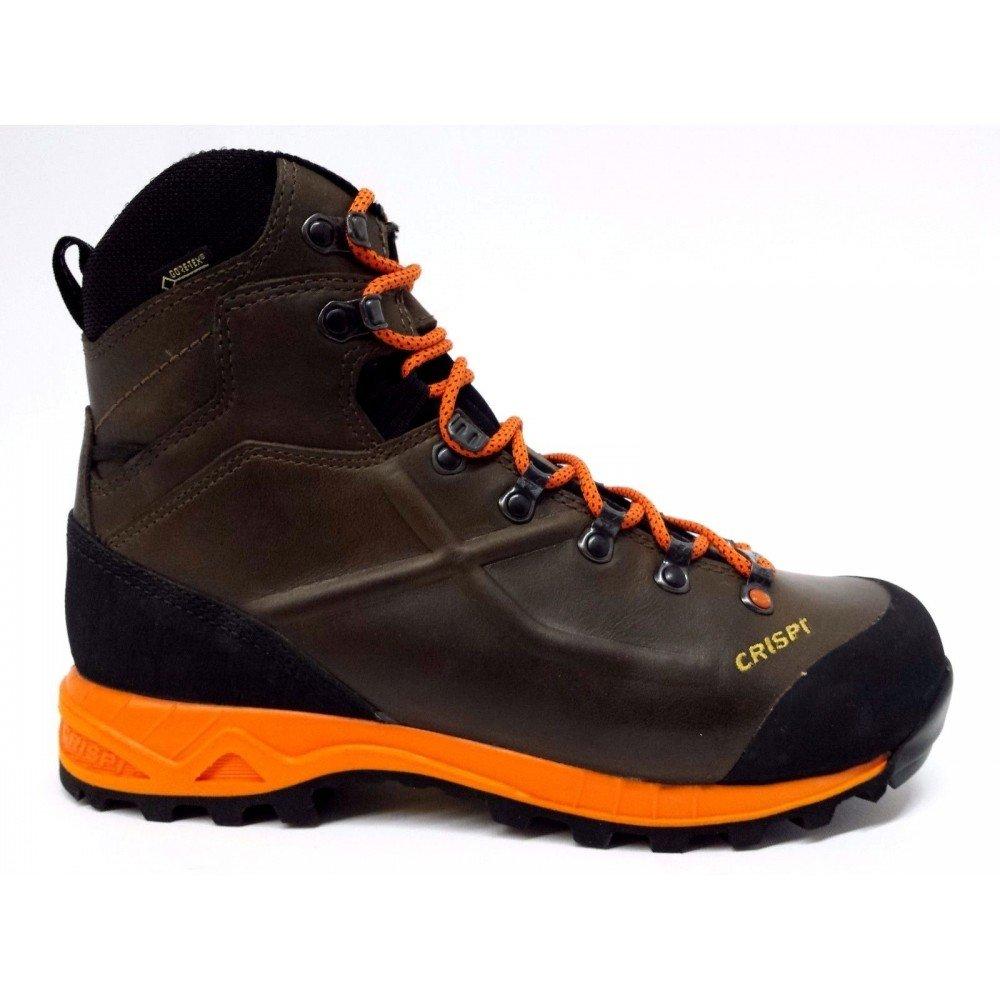 Schuh Crispi Valdres S.E. GTX dark Braun Gore-Tex High Visibility