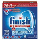 RECKITT BENCKISER PROFESSIONAL 81158 Powerball Dishwasher Tabs, Fresh Scent, 60 Tabs/Box, 4 Boxes/Carton