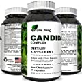 Organic Candida Complex Detox Yeast Cleanse with Enzymes Oregano Oil Caprylic Acid Improve Clarity Immune System Digestion Energy Probiotics Reduce Gas Bloating Weight Loss Support by Nature Berg