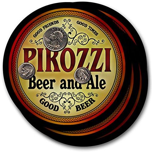 Pirozziビール& Ale – 4パックドリンクコースター   B003QXS6L8