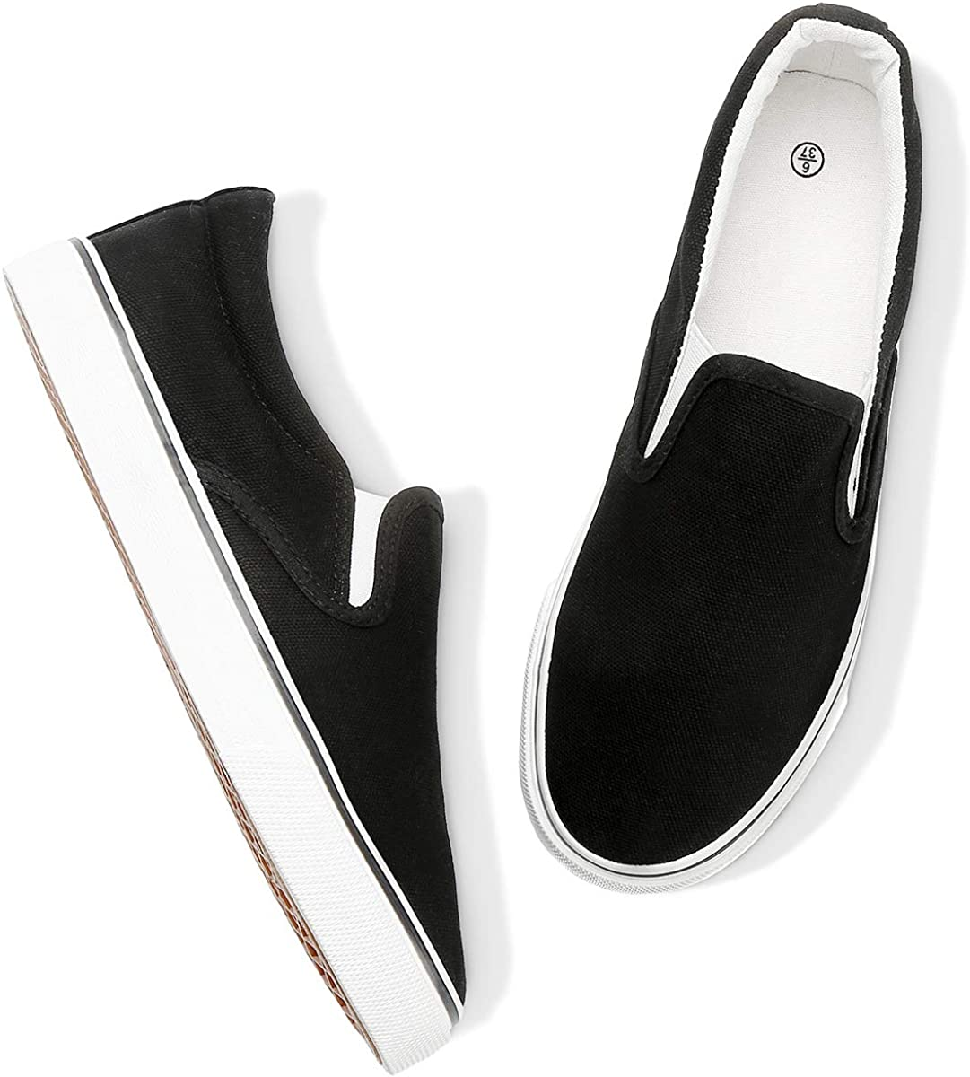 Womens Slip on Shoes Canvas Loafers Fashion Casual Sneakers