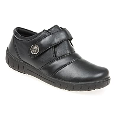201ca4544878 Pavers Wider Fit One Touch Shoe with Full Opening 145 879 - Black Leather  Size 3.5