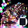 GDEALER Solar String Lights 100LED 33ft Copper Wire Lights Waterproof Starry Fairy String Lights Ambiance Lighting for Outdoor Landscape Patio Garden Bedroom Christmas Party Wedding