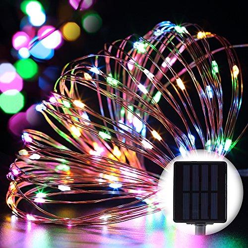 Copper String Lights Solar : GDEALER Solar String Lights 100LED 33ft Copper Wire Lights - Import It All