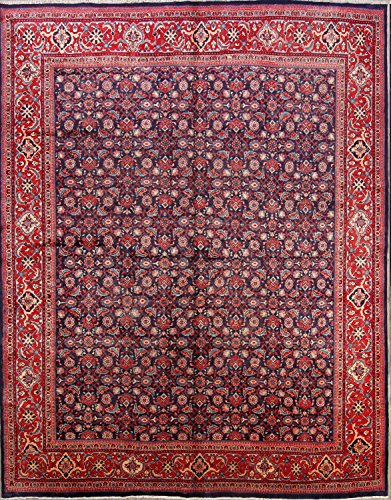 Area Sarouk Rugs Navy (Rug Source Vintage Traditional All-Over Floral 10x13 Sarouk Persian Area Rug for Living Room (12' 10
