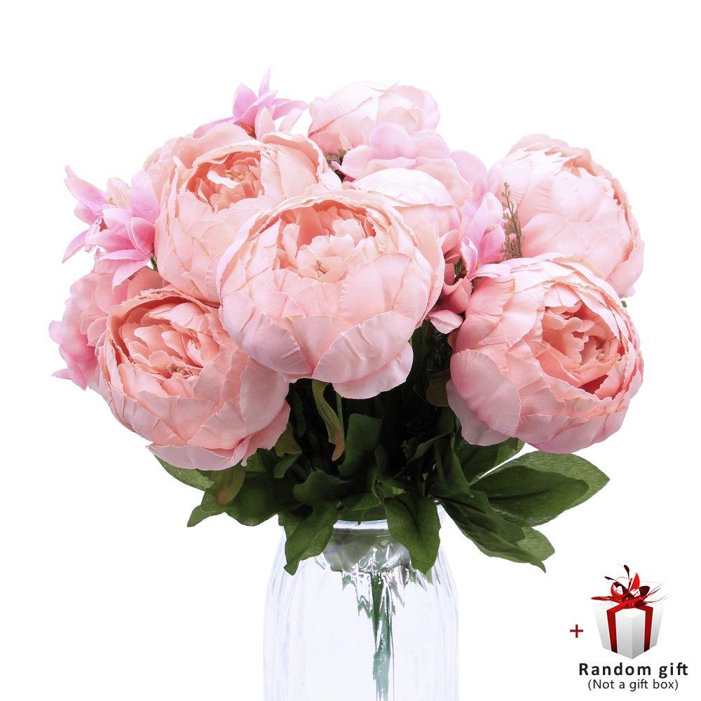 Judy人工花牡丹ヴィンテージフェイク花装飾ウェディング誕生日ギフト用 B07D1J5WQF  Spring Pure Pink