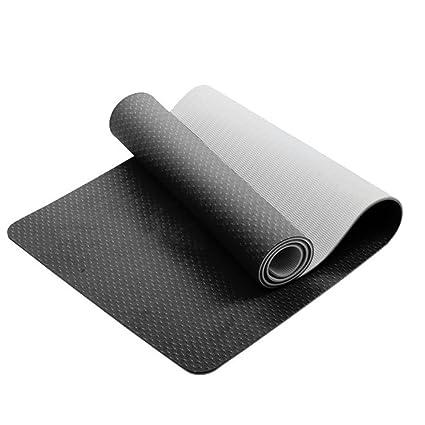 XfayS el Color de Doble Cara TPE Yoga Mat,Extra-Gruesa y ...