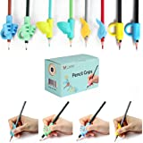 M JJYPET Pencil Grips, 8 Packs(4 Types) Pencil Grips for Kids Handwriting, Ergonomic Writing Posture Correction Tool for Chil