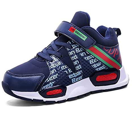3dc45014 LGXH Youth Boys Girls Winter Warm Basketball Sneakers Breathable Anti-Slip  Kids Athletic Running Shoes