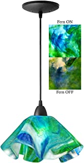 product image for Jezebel Signature Lily Pendant Large. Hardware: Black. Glass: Fern