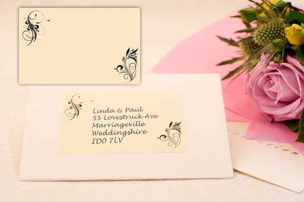 Festive Labels 40x Patterned Wedding Invitation Address Labels ...