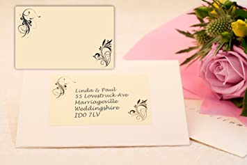 festive labels 40x patterned wedding invitation address labels