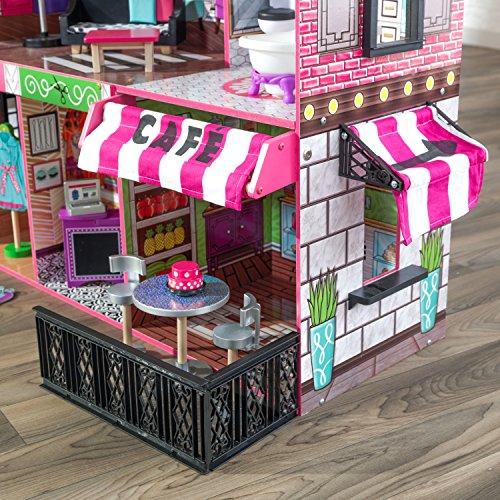 61scxXDF6mL - KidKraft So Chic Dollhouse with Furniture
