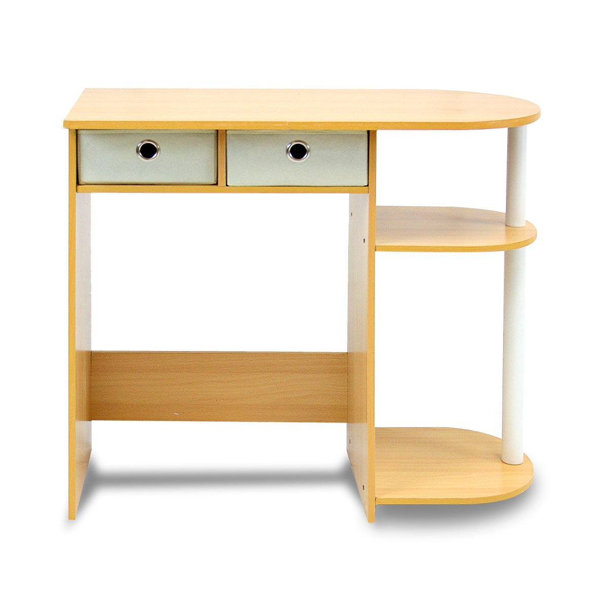 Furinno 11193BE/WH/IV Go Green Home Computer Desk/Table, Beech/Ivory/White by Furinno