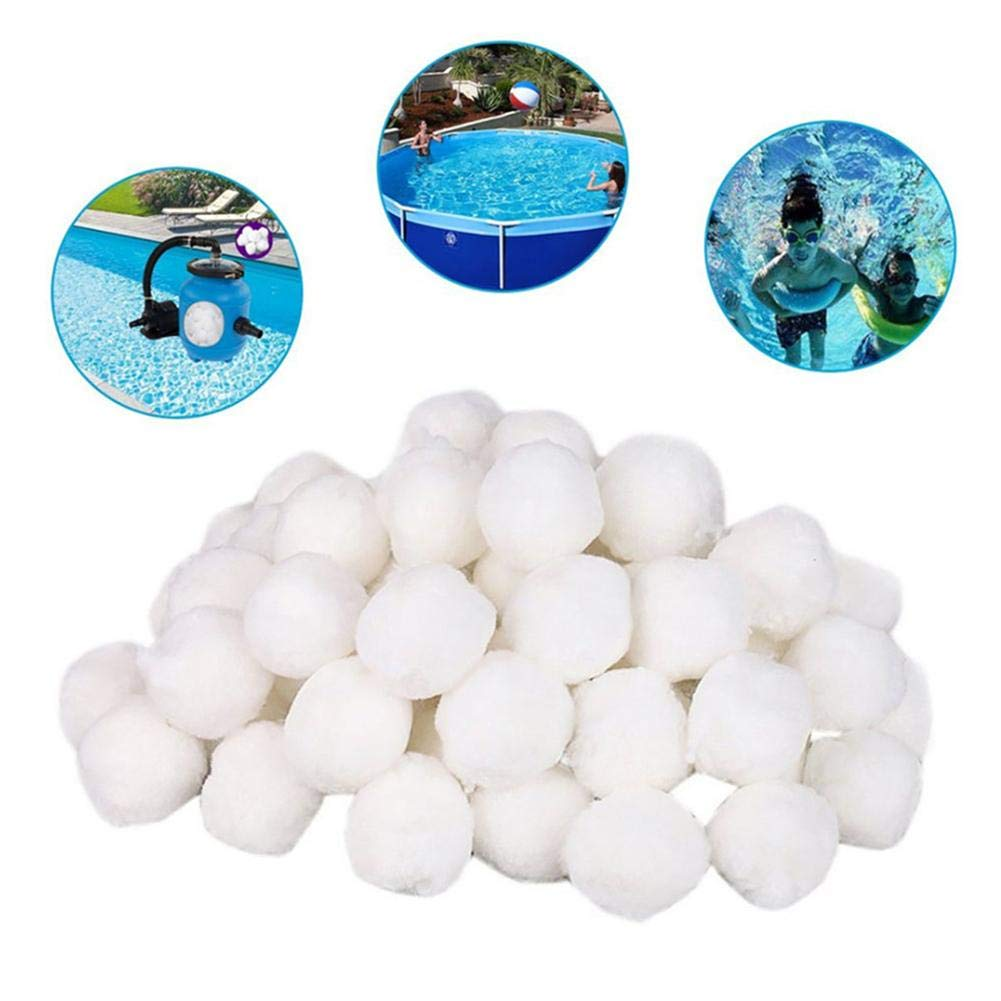 Pool Filter Balls 1.1lbs/500g, Fiber Media Capacity Filter Media for Swimming Pool Aquarium Filters Alternative to Sand by Window-pick