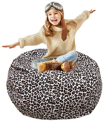 Bean Bag Chair Store (Kid's Stuffed Animal Storage Bean Bag Chair with Extra Long Zipper, Carrying Handle, Large Size at 38