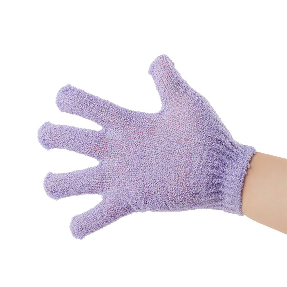 1Pc Shower Gloves,Minshao Body Exfoliating Wash Skin Spa Bath Gloves Foam Bath Skid Resistance Massage Cleaning Loofah Scrubber