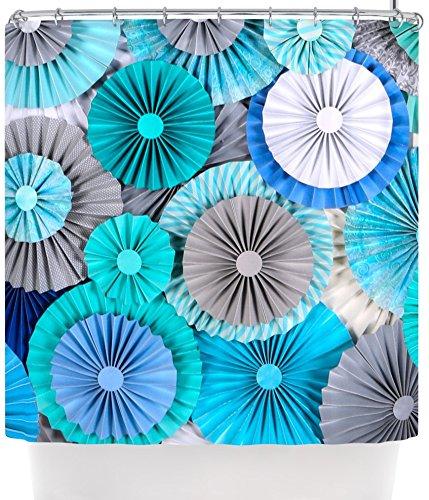 Kess InHouse Heidi Jennings QuotBrunch At Tiffanysquot Aqua Blue Shower Curtain