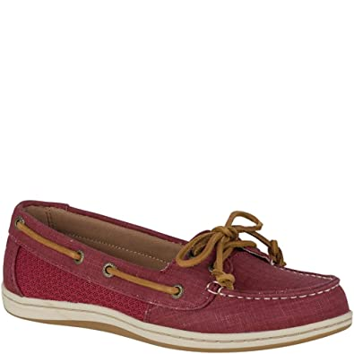b42dbe6a32 Sperry Top-Sider Firefish Scratch Linen Boat Shoe Women 5 Rosewood